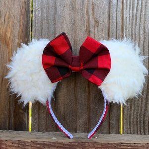 Christmas Minnie Ears, Plaid Minnie Mouse Ears,
